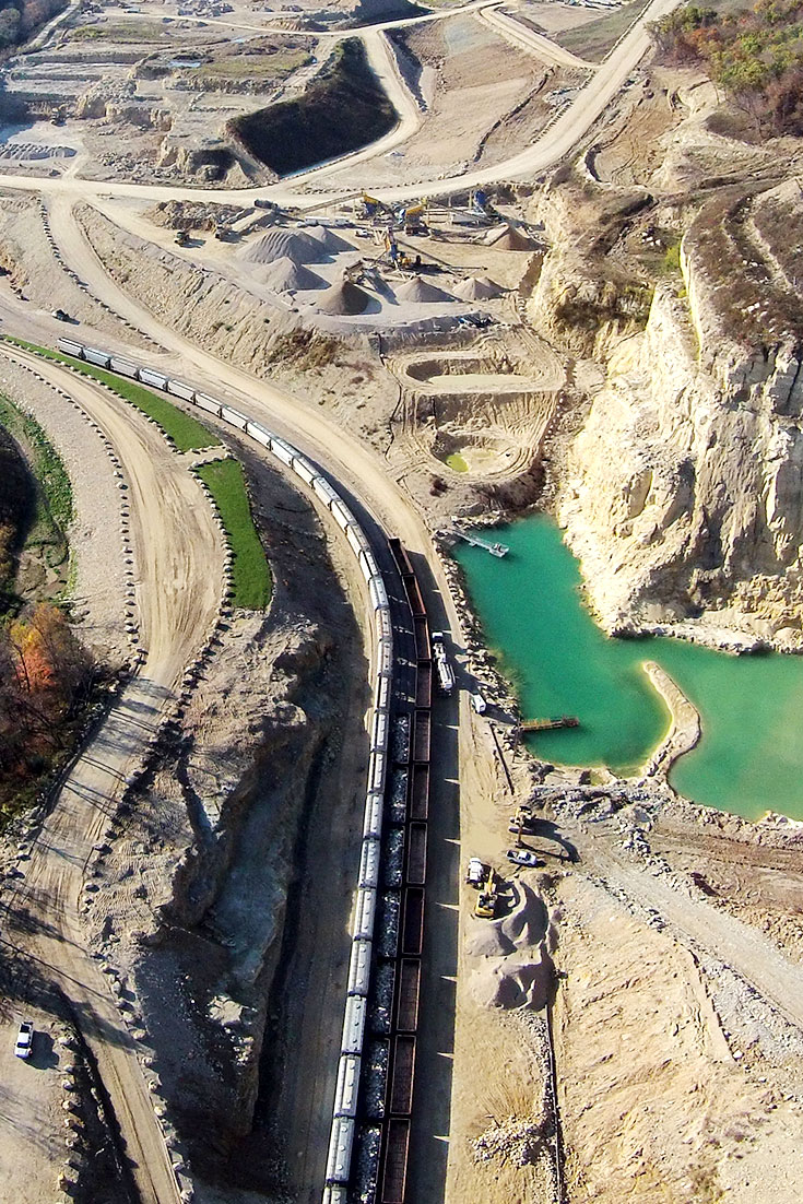 Pattison produces high quality proppants and IADOT certified limestone aggregates, delivered by Multiple Rail Line, Truck, and Barge.